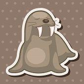 image of sea lion  - Animal Sea Lion Cartoon Theme Elements - JPG