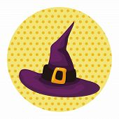 stock photo of witch  - Witch Hat Theme Elements - JPG