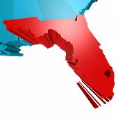 picture of usa map  - Florida map on blue USA map image with hi - JPG