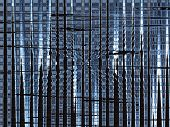 foto of tawdry  - abstract blue background with vertical and horizontal metallic lines - JPG