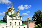 image of tabernacle  - Pictured Orthodox church in Nizhny Novgorod which is located on the banks of the Volga River - JPG