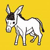 picture of donkey  - Donkey Doodle - JPG