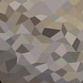 stock photo of taupe  - Low polygon style illustration of a trolley grey abstract geometric background - JPG