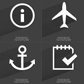 foto of tasks  - Information sign Airplane Anchor Task completed icon - JPG