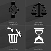 picture of wrist  - Wrist watch Scales Trash can Hourglass - JPG
