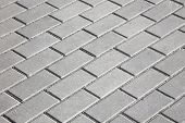 picture of paving stone  - foto gray paving stones on the sidewalk - JPG