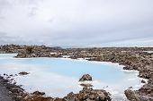 pic of thermal  - Blue lagoon thermal station near Reykjavik Iceland - JPG