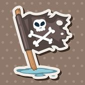 stock photo of pirate flag  - Pirate Flags Theme Elements - JPG