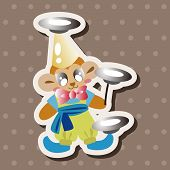 foto of circus clown  - Circus Clown Theme Element - JPG