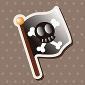 pic of pirate flag  - Pirate Flags Theme Elements - JPG
