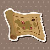 pic of treasure map  - Treasure Map Theme Elements - JPG