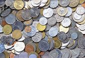 pic of copper coins  - Collection of the old circulated coins - JPG