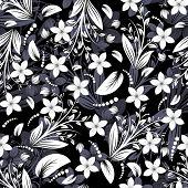 Naadloze vector floral achtergrond. Sleep voor gemakkelijk maken naadloze patroon gewoon alle groep in swatche