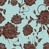 Seamless vector floral pattern. For easy making seamless pattern just drag all group into swatches b