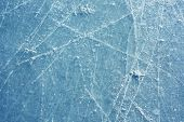 Ice surface with scratches