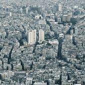 Center of huge city. Damascus