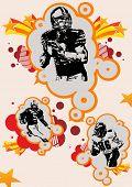 football vector illustration poster
