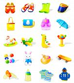 set of kids' vector icons