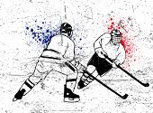 hockey vector poster