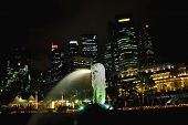 Merlion Singapore By Night