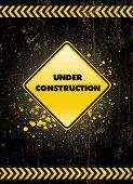onder constructie poster