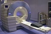 stock photo of magnetic resonance imaging  - Magnetic resonance imaging medical equipment at hospital - JPG