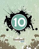 cartaz de futebol grunge