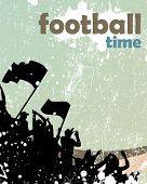 cartaz de multidão de esportes de grunge