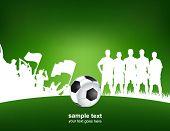 cartaz de futebol verde