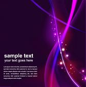 abstract glowing background - vector illustration