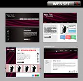 business web site design template - vector illustration