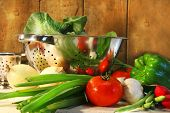 Vegetables on the counter
