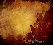 de arte de asia mapa-vintage