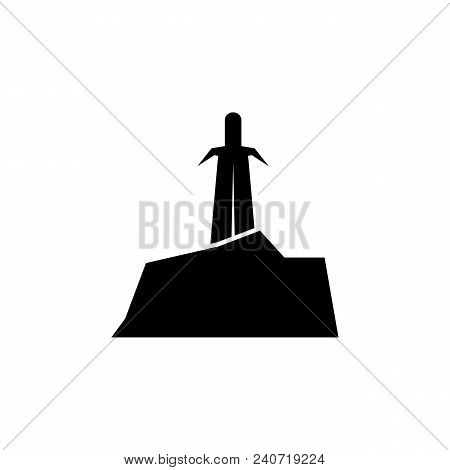 Sword In Stone Silhouette Element