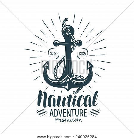 Vintage Anchor Label Nautical Adventure