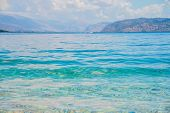 Beautiful Seascape Panorama. Composition Of Nature.seascape Background, Summer Sea Ocean Vacation poster