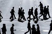 image of hustle  - business people in the cross walk - JPG