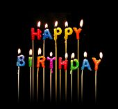 picture of happy birthday  - a photo of happy birthday candles - JPG