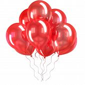 color balloons isolated