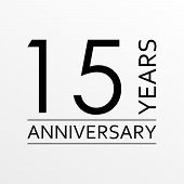 15 Years Anniversary Icon. Anniversary Decoration Template. Vector Illustration. poster