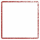 Double Rounded Square Frame Distress Textured Template. Vector Draft Element With Grainy Design And  poster