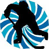 Постер, плакат: Хоккеист