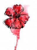 abstrakt blumen Hintergrund gemalt