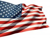 stock photo of american flags  - Close up of the American flag - JPG