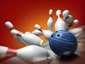 3d render of a bowling