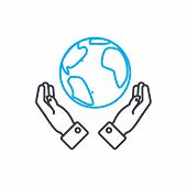 Global Opportunities Vector Thin Line Stroke Icon. Global Opportunities Outline Illustration, Linear poster