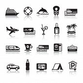 Signs. Tourism. Travel. Sports. First Set Icons