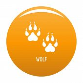Wolf Step Icon. Simple Illustration Of Wolf Step Vector Icon For Any Design Orange poster