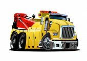 Cartoon Tow Truck Isolated On White Background. Available Eps-10 Vector Format Separated By Groups A poster