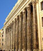 Temple of Hadrian in Piazza di Pietra - Rome